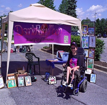 picture of artist Eric Ovelgone at Festival in Finksburg Maryland 2011